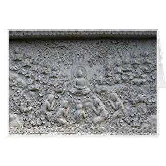 Bodhiの木の下の仏 グリーティングカード