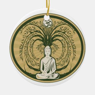 Bodhiの木の下の仏 セラミックオーナメント