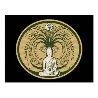 Bodhiの木の下の仏 ポストカード
