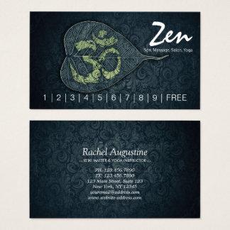 Bodhiの葉OMの記号のヨガのスタジオのロイヤリティの穿孔器 名刺