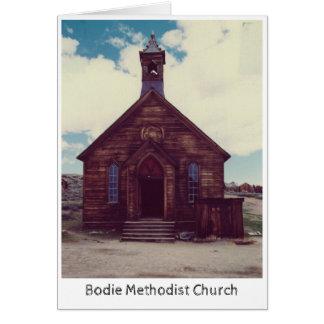Bodieのメソジスト教会の挨拶状 カード