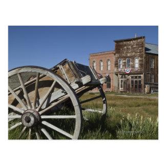 Bodieの国家の古いワゴンおよび店の前部 ポストカード