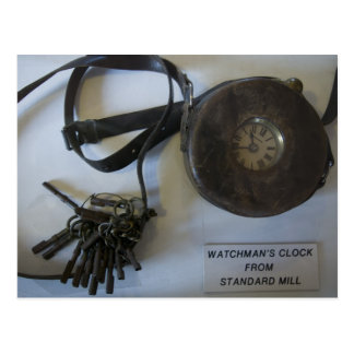 Bodieの夜警の時計および鍵 ポストカード