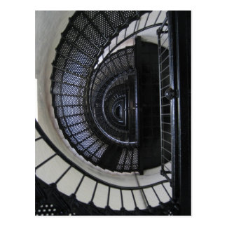 Bodieの島の灯台階段の吹き抜け ポストカード