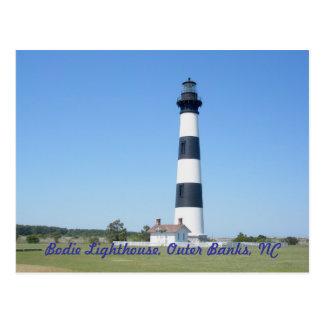 Bodieの島の灯台OBXノースカロライナ ポストカード