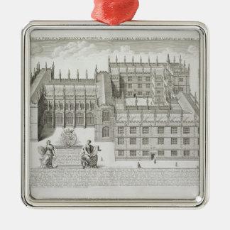 Bodleianの図書館、「Oxonia Illustrataからのオックスフォード、 シルバーカラー正方形オーナメント