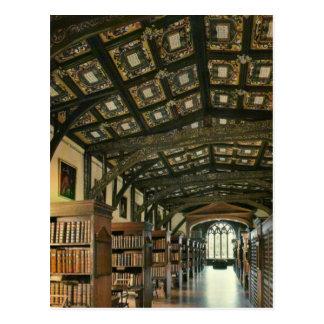 Bodleinの図書館、オックスフォード大学、イギリス ポストカード