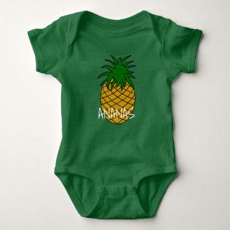 Body en jersey pour bébé Ananas ベビーボディスーツ