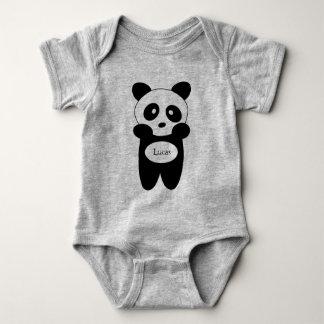 Body en jersey pour bébé, Panda bébé ベビーボディスーツ