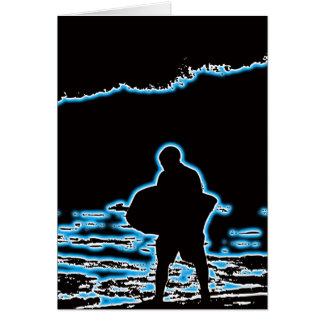 BodyBoardの海岸の壊れ目 グリーティングカード