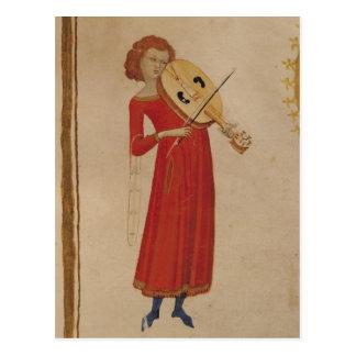 Boethius著「De Musica」からのミュージシャン、 ポストカード