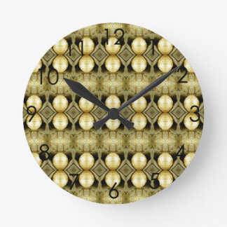 Bohoのイエロー・ゴールドのジプシーの硬貨のボヘミア人の声明 ラウンド壁時計