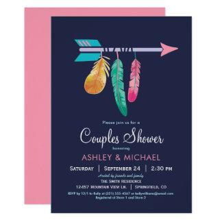 Bohoのカップルのシャワーの招待状 カード