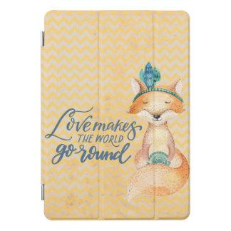 Bohoのキツネ愛引用文のiPadのプロカバー iPad Proカバー