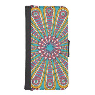 Bohoのクールで多彩な曼荼羅 iPhoneSE/5/5sウォレットケース