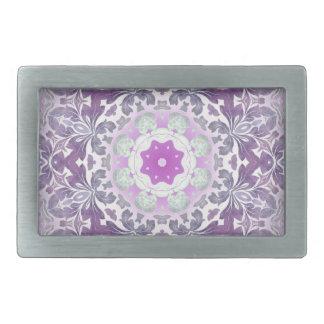 Bohoのシックなボヘミアの薄紫の紫色の曼荼羅 長方形ベルトバックル