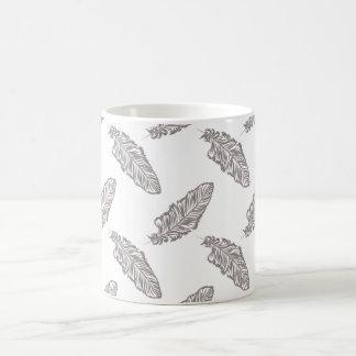 bohoのシックな羽、ボヘミアパターンマグ コーヒーマグカップ