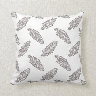 bohoのシックな羽、ボヘミアパターン枕 クッション