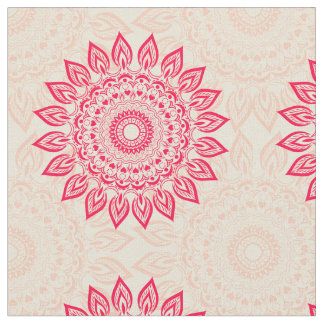 Bohoのスタイルの生地の抽象的な花のオーナメント ファブリック