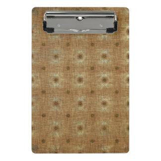 Bohoのタペストリーパターン、薄茶の小型クリップボード ミニクリップボード