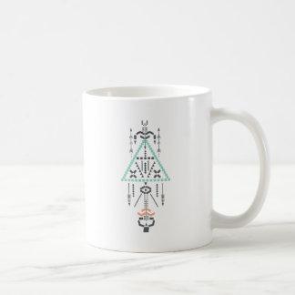 Bohoのトーテム、民族の記号、ヒッピー、種族アズテック人 コーヒーマグカップ