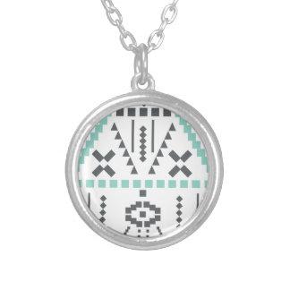 Bohoのトーテム、民族の記号、ヒッピー、種族アズテック人 シルバープレートネックレス