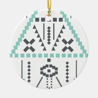 Bohoのトーテム、民族の記号、ヒッピー、種族アズテック人 セラミックオーナメント