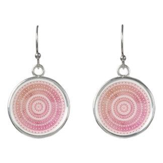 Bohoのピンクの種族の民俗自然のジプシーの円のヒッピー イヤリング