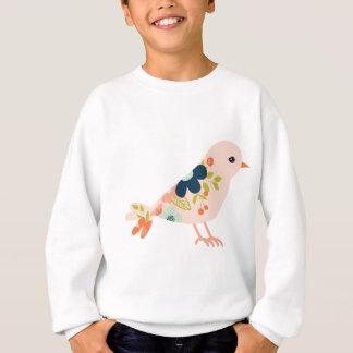 Bohoのピンクの種族の鳥 スウェットシャツ