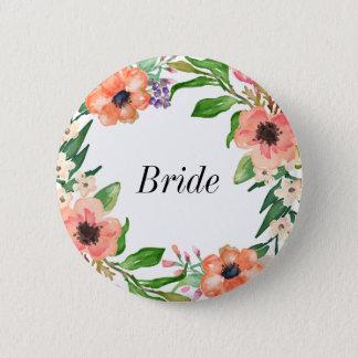 Bohoのブライダルパーティの結婚式 5.7cm 丸型バッジ