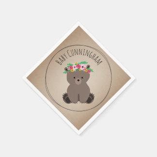 Bohoのベビーの小熊のベビーシャワーのナプキン スタンダードカクテルナプキン