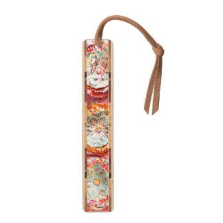 Bohoのペーパー花の技術のスエードのふさ木しおり 楓 ブックマーク