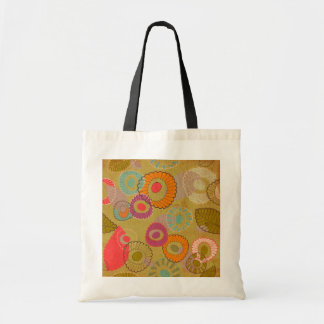 Bohoのボヘミアのレトロのカラフルな花の花 トートバッグ