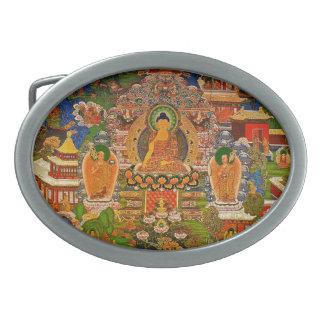 Bohoのボヘミア人を賛美する仏の仏教の仏教 卵形バックル