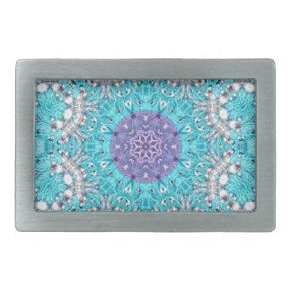 Bohoのモロッコの刺繍の青緑のボヘミア人 長方形ベルトバックル