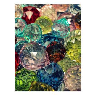 Bohoの上品: カラフルなガラス玉 ポストカード