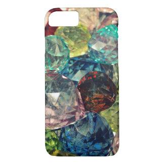 Bohoの上品: カラフルなガラス玉 iPhone 8/7ケース