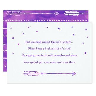 Bohoの女の子の冒険の本の要求挿入物カード カード