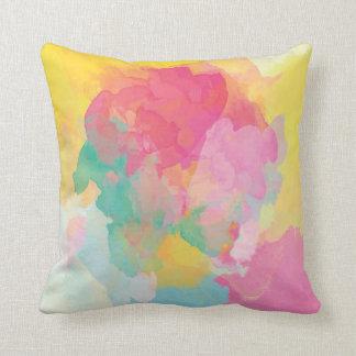 Bohoの明るい水彩画の枕 クッション