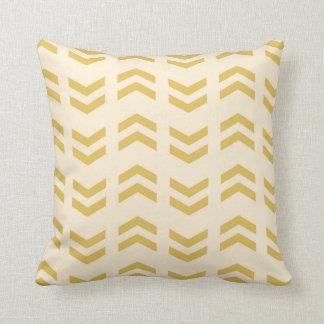 Bohoの矢のプリントの枕-黄色 クッション