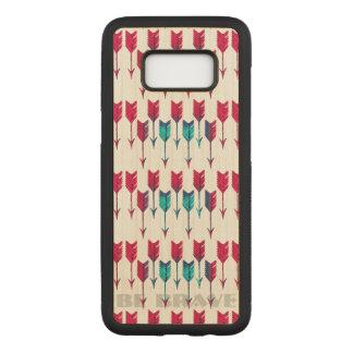 Bohoの種族の矢の赤いターコイズの羽のボヘミア人 Carved Samsung Galaxy S8 ケース
