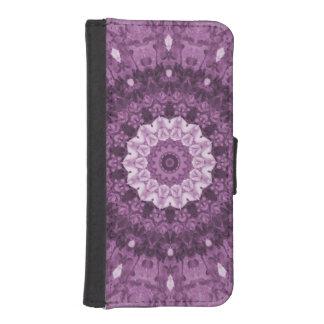 Bohoの紫色の民族の抽象的な万華鏡のように千変万化するパターン iPhoneSE/5/5sウォレットケース