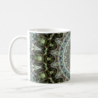Bohoの緑および水の曼荼羅 コーヒーマグカップ