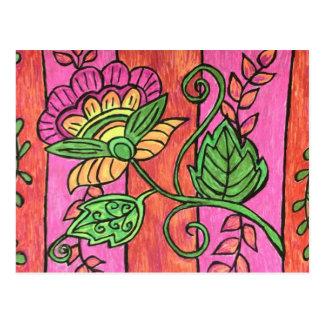 Bohoの花の郵便はがき ポストカード