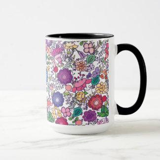 bohoの花柄 マグカップ
