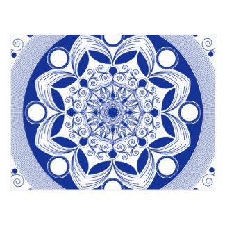 Bohoの華美な曼荼羅 ポストカード