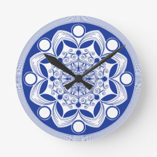 Bohoの華美な曼荼羅 ラウンド壁時計