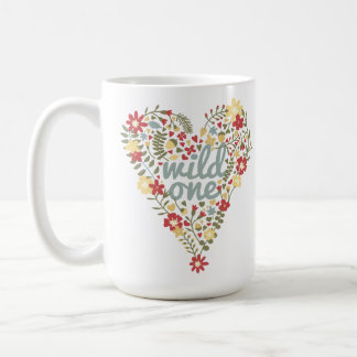 Bohoの野生の1つのハートのマグ コーヒーマグカップ