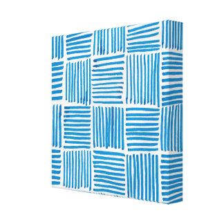 Bohoの青い質のバックラムパターンプリント キャンバスプリント