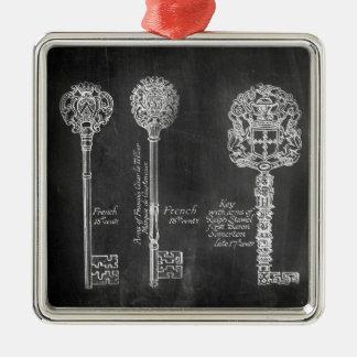 bohoの黒板のビクトリアンなsteampunkの合い鍵 メタルオーナメント